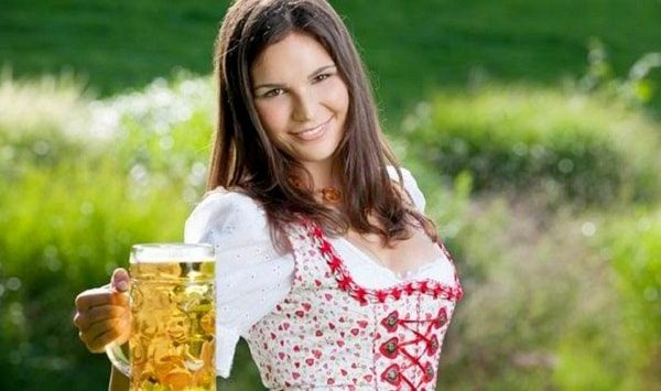 Do German women love drinking beer