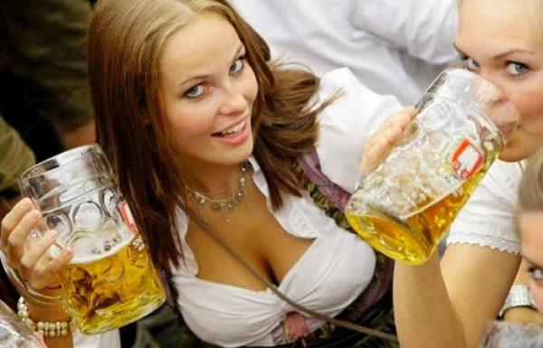 Do German women love drinking beer?