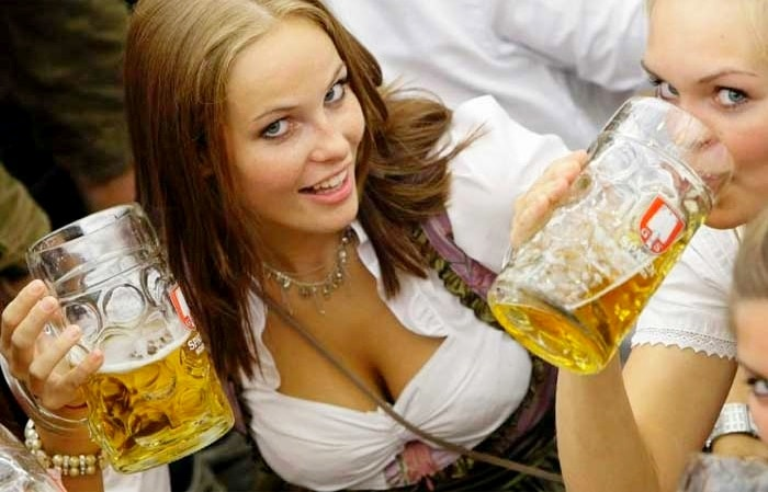 Do German women love drinking beer?