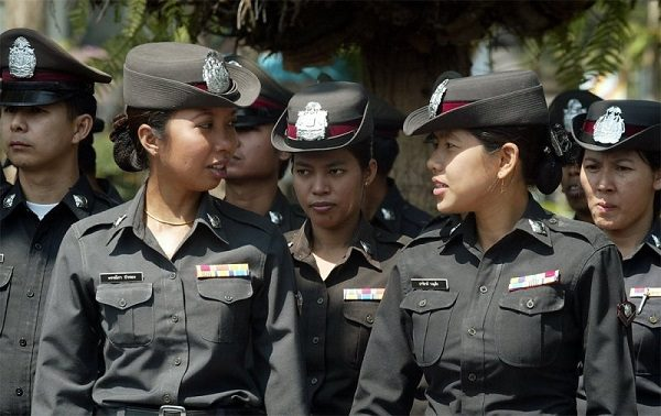 Thai police women