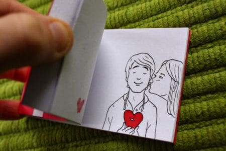 gifts for women on Valentine's Day, flip book animation