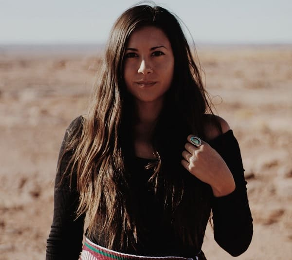 12. A Native American woman is closer to God